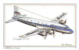 sub060107 - Airplane Post Card