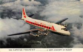 sub060987 - Airplane Post Card
