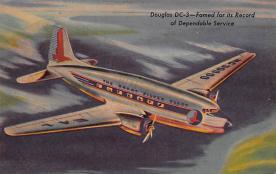 sub061247 - Airplane Post Card