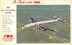 sub061655 - Airplane Post Card