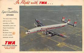 sub061839 - Airplane Post Card