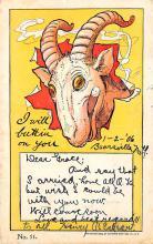 sub063303  Goat Post Card