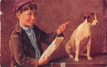 sub063917 - Dog, child Post Card