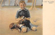 sub063919 - Dog, child Post Card