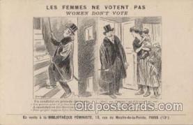suf001010 - Woman Don't Vote, Suggragette Postcard Postcards