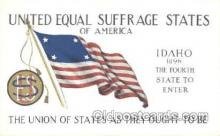 suf002002 - United Equal Rights Suffrage States of America, Suffragette Postcard Postcards