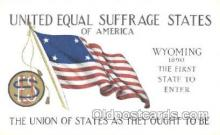 suf002003 - United Equal Rights Suffrage States of America, Suffragette Postcard Postcards