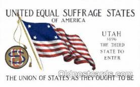 suf002024 - Utah, Suffragette Postcard Postcards