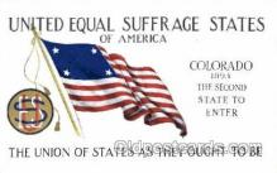 suf002025 - Colorado, Suffragette Postcard Postcards
