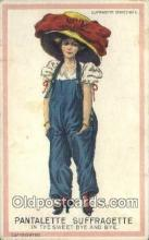 suf002120 - Pantalette Suffragette Postcard, Womans Rights Post Card Old Vintage Antique