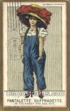 suf002128 - Pantalette Suffragette Postcard, Womans Rights Post Card Old Vintage Antique