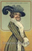 suf002133 - What a shame to muzzle so gental a creature Suffragette Postcard, Womans Rights Post Card Old Vintage Antique