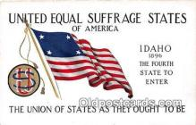 suf100001 - Idaho, 1896 United Equal Suffrage States of America Postcard Post Card
