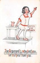 suf100014 - Artist Cobb Shinn Votes for Wimmen Postcard Post Card