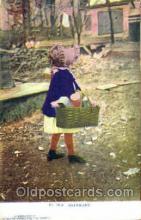sun001095 - No. 1910  E.F.Branning's Cartino Card N.Y.City (Germany) Sun Bonnet, Bonnets Postcard Post Card Old Vintage Antique