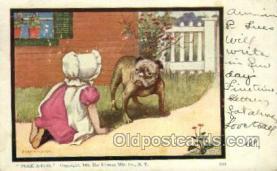 sun001107 - Sunbonnet, Sun Bonnet Old Vintage Antique Postcard Postcards