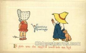 sun001109 - Sunbonnet, Sun Bonnet Old Vintage Antique Postcard Postcards