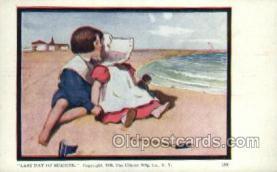 sun001111 - Sunbonnet, Sun Bonnet Old Vintage Antique Postcard Postcards