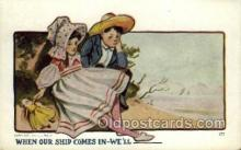 sun001112 - Sunbonnet, Sun Bonnet Old Vintage Antique Postcard Postcards