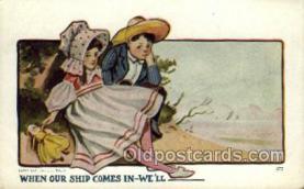 sun001112 - Sunbonnet, Sun Bonnet Old Vintage Antique Postcard Postcards