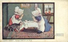 sun001116 - Sunbonnet, Sun Bonnet Old Vintage Antique Postcard Postcards