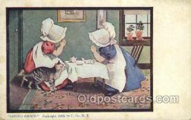 sun001116 - Sunbonnet, Sun Bonnet Old Vintage Antique Postcard Postcards