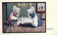 sun001120 - Sunbonnet, Sun Bonnet Old Vintage Antique Postcard Postcards