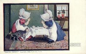 sun001120 - Sunbonnet, Sun Bonnet Old Vintage Antique Postcard Postcards