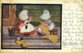 sun001122 - Sunbonnet, Sun Bonnet Old Vintage Antique Postcard Postcards
