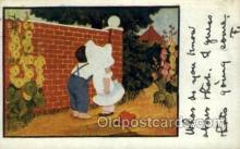 sun001124 - Sunbonnet, Sun Bonnet Old Vintage Antique Postcard Postcards