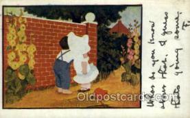 sun001124 - Sunbonnet, Sun Bonnet Old Vintage Antique Postcard Postcards