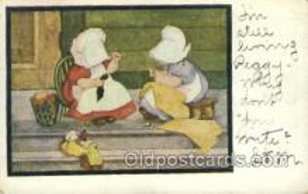 sun001125 - Sunbonnet, Sun Bonnet Old Vintage Antique Postcard Postcards