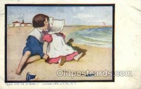 sun001126 - Sunbonnet, Sun Bonnet Old Vintage Antique Postcard Postcards
