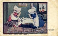 sun001132 - Sunbonnet, Sun Bonnet Old Vintage Antique Postcard Postcards