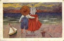 sun001136 - Sunbonnet, Sun Bonnet Old Vintage Antique Postcard Postcards