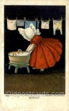 sun001155 - Sunbonnet, Sun Bonnet Old Vintage Antique Postcard Postcards