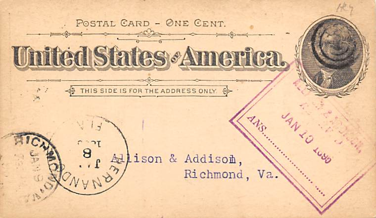 sub054273 - Postal Cards, Late 1800's Post Card