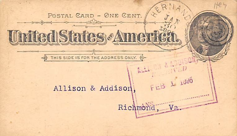 sub054281 - Postal Cards, Late 1800's Post Card