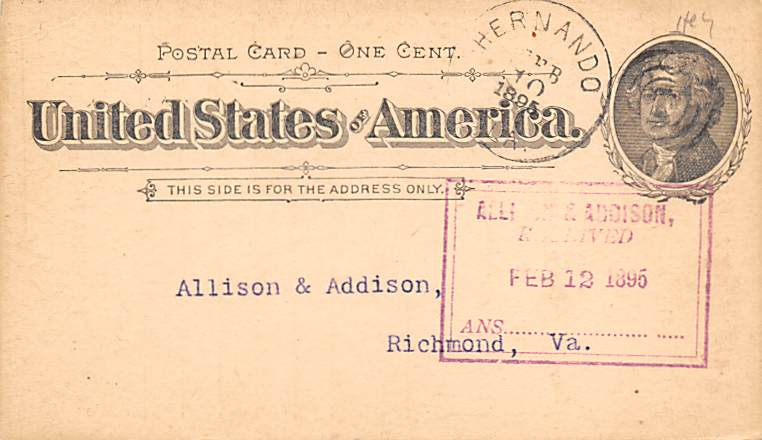 sub054283 - Postal Cards, Late 1800's Post Card