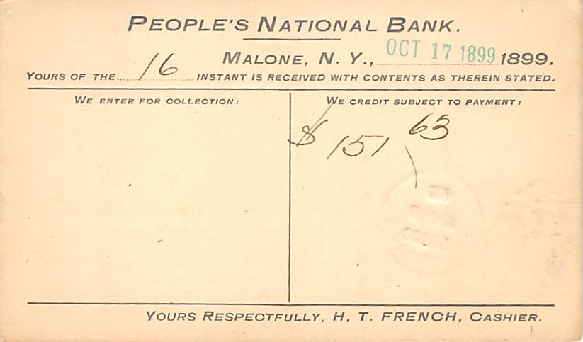 sub054487 - Postal Cards, Late 1800's Post Card