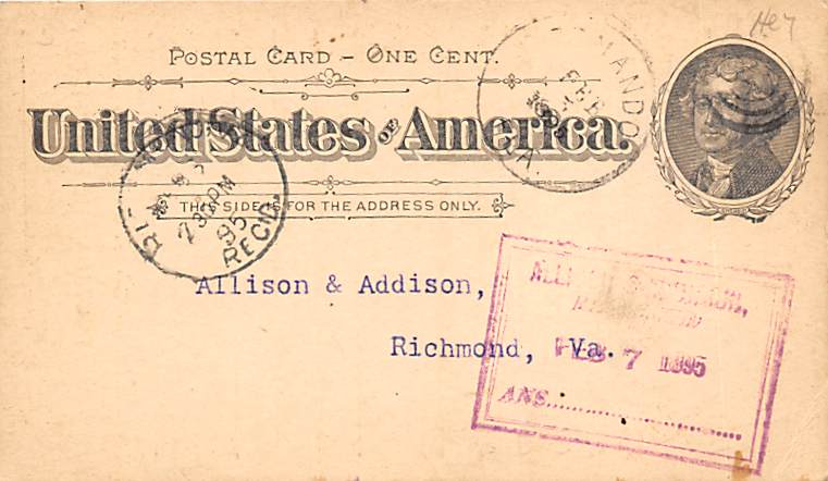sub054613 - Postal Cards, Late 1800's Post Card