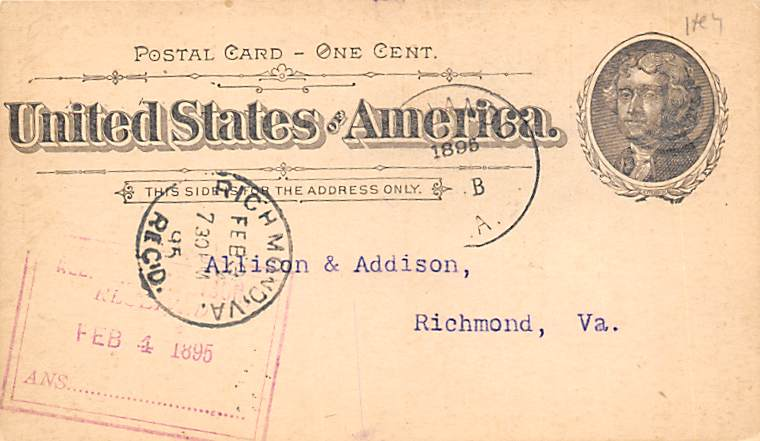 sub054617 - Postal Cards, Late 1800's Post Card