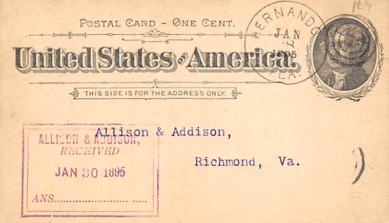 sub054619 - Postal Cards, Late 1800's Post Card