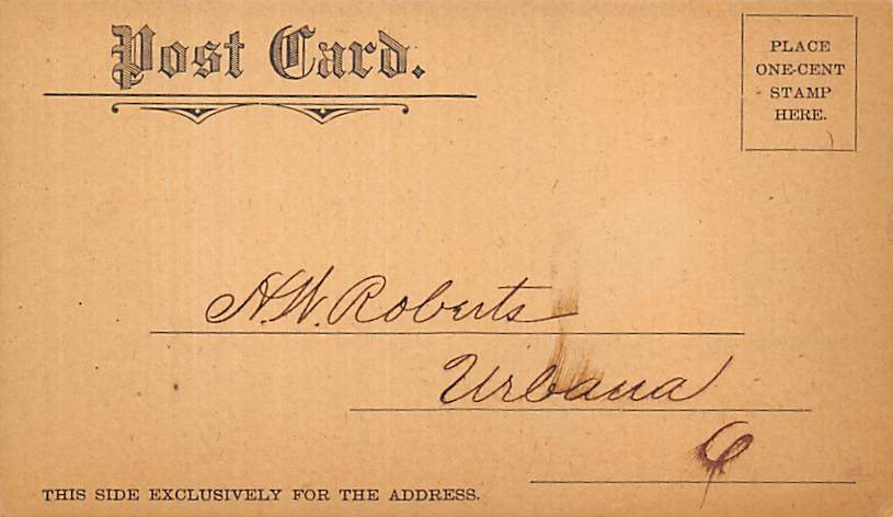 sub054693 - Postal Cards, Late 1800's Post Card