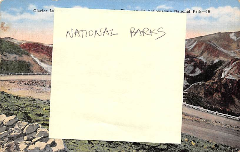 sub065239 - National Park Post Card