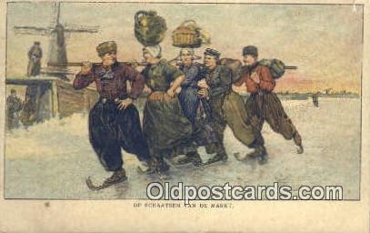 Op Schaatsen Van De Markt