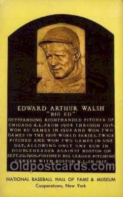 spo003855 - Edward Arthur Walsh Baseball Hall of Fame Card, Old Vintage Antique Postcard Post Card