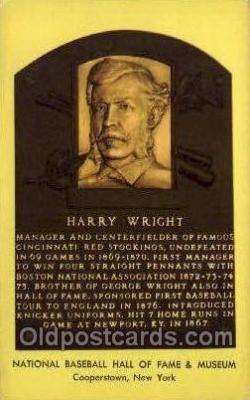 spo003863 - Harry Wright Baseball Hall of Fame Card, Old Vintage Antique Postcard Post Card