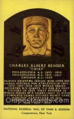 spo003865 - Charles Albert Bender Baseball Hall of Fame Card, Old Vintage Antique Postcard Post Card