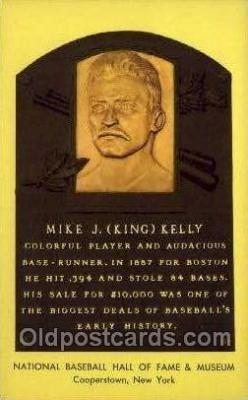 spo003876 - Mike J king Kelly Baseball Hall of Fame Card, Old Vintage Antique Postcard Post Card